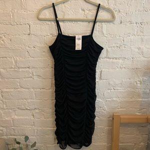 Black Ruched Tank Top Dress